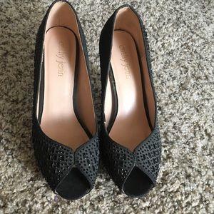 Black Heels with Rhinestones
